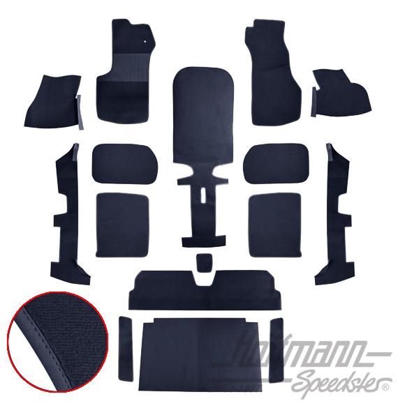 teppichsatz golf cabrio 79 93 blau blau teppichs tze. Black Bedroom Furniture Sets. Home Design Ideas